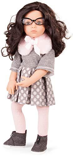 Götz 1766043 Happy Kidz Luisa Puppe - 50 cm große Multigelenk-Stehpuppe mit schwarzen Haaren und steingrauen Augen - 7-teiliges Set (Baby Mit Brille)