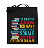 Chorchester Für Bücher Fans, Die Lesesüchtig Sind - Jutebeutel (mit langen Henkeln)