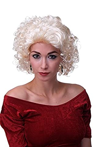 WIG ME UP ® - Perruque carnaval dame blonde boucles star de film années 50 60 MARILYN-P88