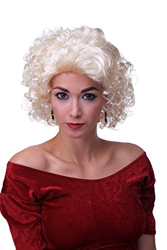 Preisvergleich Produktbild Wig me up Perücke Karneval Fasching Damenperücke Blond Locken Filmstar 50ies 60ies MARILYN-P88