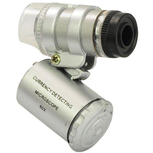 IKTU Super Mini 60X Microscope With 2-LED Illumination + Currency Detecting UV Light