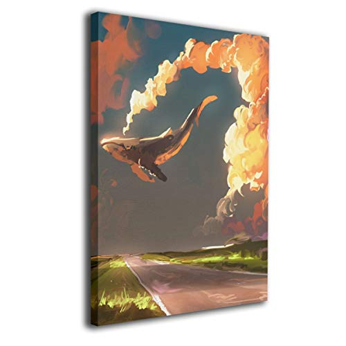 Paint C Download Wolke Himmel Wal Wandbild Gemälde auf Leinwand, ohne Rahmen, fertig zum Aufhängen, für Moderne Wohnzimmer, 40,6 x 50,8 cm