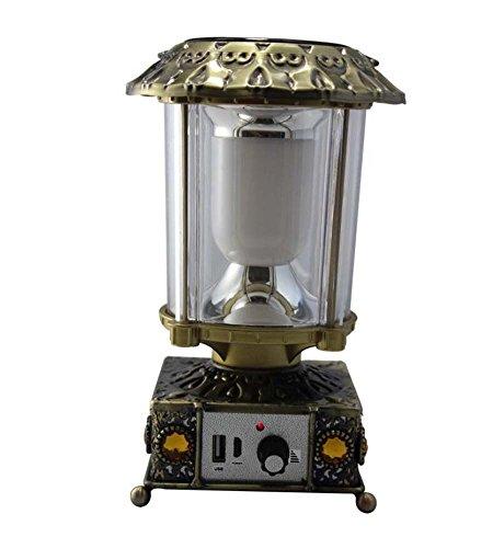 GAOLIQIN Retro Solarlichter, im Freien kampierende Notleuchten, USB aufladbare Solarlichter, nach Hause lesende/kampierende Mehrzwecklampe, wasserdichte Außenleuchten IP55, Selbst-AN/AUS (Farbe : B)