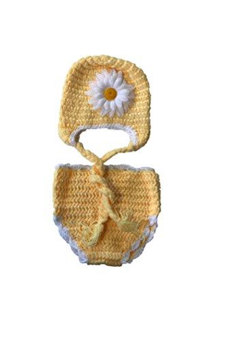 Neugeborenen Sonnenblumen Kostüm - Matissa Neugeborenes Baby Mädchen/Jungen häkeln Stricken Kostüm Fotografie Prop Outfits (Sonnenblume)