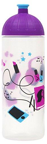 ISYbe Original Marken-Trink-Flasche für Kinder und Erwachsene, 700 ml, BPA-frei, Girl Things-Motiv, geeignet für Schule, Reisen, Sport & Outdoor, Auslaufsicher auch mit Kohlensäure, Spülmaschine-fest