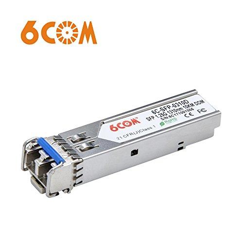 6COM für D-LINK DEM-310GT Gigabit SFP Transceiver, 1.25Gb/s, SMF, 1310nm, 10km - Hot Pluggable Single
