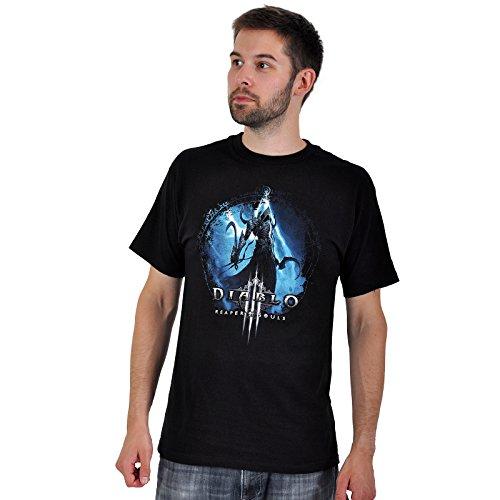Diablo III Wings T-Shirt zum Add-On Reaper of Souls mit Malthael Engel des Todes schwarz - S (Diablo-shirt)