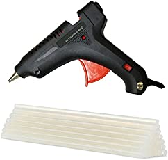 80 watt Professional Glue Gun with Glue Flow Control and Glue Sticks