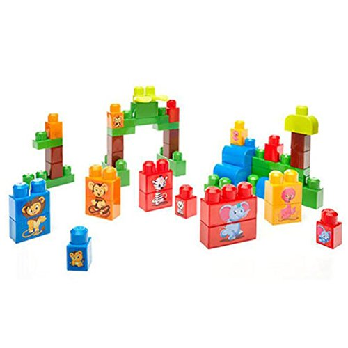 Conjunto de bloques de construcción de plástico Para niños de edad preescolar Juguete educativo básico , picture color