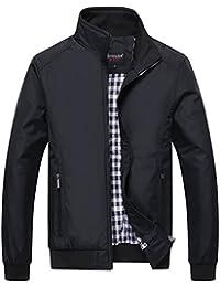 YYZYY Homme Printemps été Automne Polyester mince bombardier Bomber veste Blousons Mens Lightweight jacket