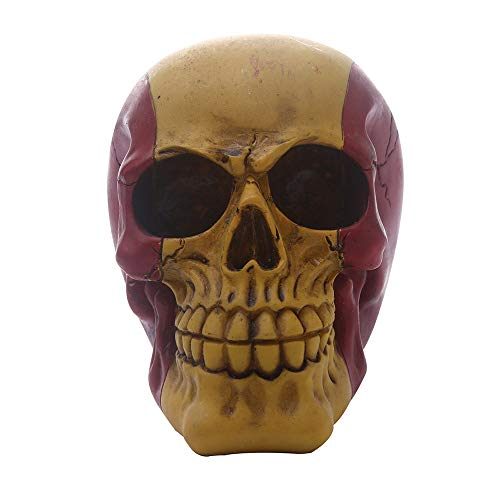ZHZX Dekoration des menschlichen Schädels, farblich abgestimmte Schädelskulptur aus synthetischem Harz, Anti-Verblassungs- und haltbare Fotografie-Requisiten für zu Hause an Halloween (Den Bedeutet Tod Halloween)