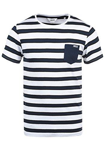!Solid Salu Herren T-Shirt Kurzarm Shirt Mit Streifen Und Rundhalsausschnitt 100% Baumwolle, Größe:XL, Farbe:Insignia Blue (1991) (Blau Und Weiß Gestreiften Shirt Kostüm)