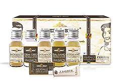 Idea Regalo - Kit Viaggio | LIBERI & BELLI | Produzione Artigianale MADE IN ITALY | Set da viaggio - Bagnodoccia, Crema Corpo, Shampoo, Balsamo, Saponetta, Detergente Intimo e Dentifricio senza Fluoro -