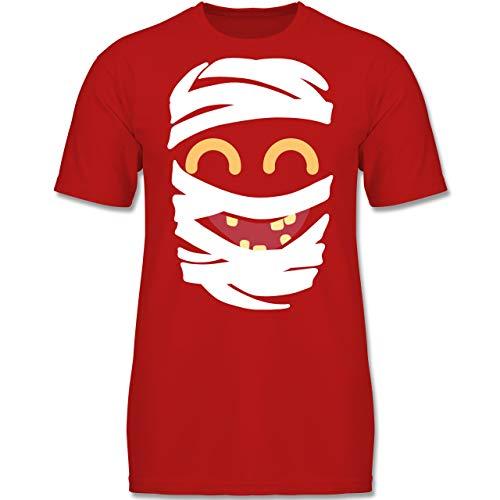 Für Jungen Kostüm Mumie - Karneval & Fasching Kinder - Mumie Karneval Kostüm - 164 (14-15 Jahre) - Rot - F130K - Jungen Kinder T-Shirt