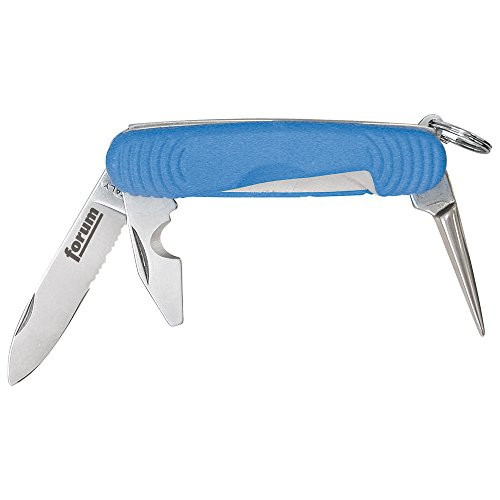 Forum 4317784923699 Couteau pour câbles avec 2 lames, 1 pointe et manche en plastique