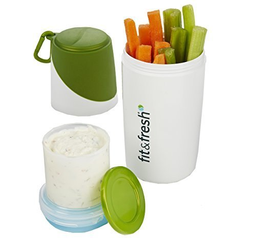 healthy-food-snacker-chilled-food-container-for-snacks-white-green-8h-x-3w-x-3d-by-fit-fresh