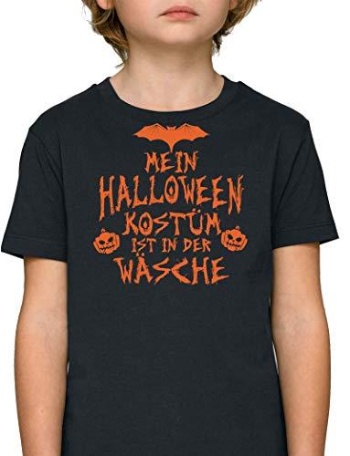 Grusel Gruppen Premium Bio Baumwoll Mädchen Jungen Kinder T-Shirt Stanley Stella Mein Halloween Kostüm ist in der Wäsche 3, Größe: 12/14,Black (Halloween-kostüme Der Drei Mädels)