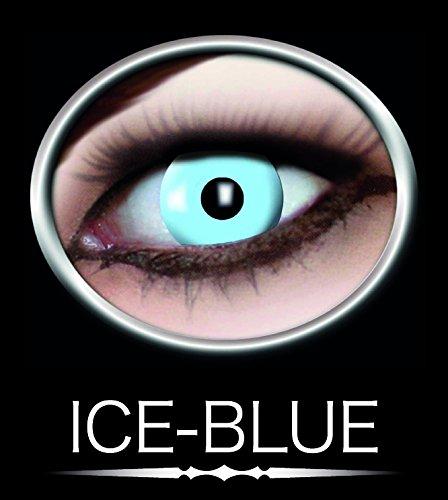 Kontaktlinsen farbig ohne Stärke- hellblau Engel Icefee blau Eisfee Motivlinsen (Närrisches Werte)