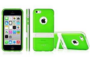 SOOPER TPU Matte Bumper With Kick Stand Case Cover For iPhone 5c (Green)