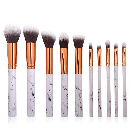 Greatlizard 10 Makeup Brush Set Of Marble