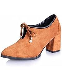 Solo Zapatos de Tacones Altos de la Manera de Las Mujeres Todo el Fósforo Cómodo Grueso