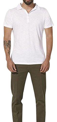 Maratus Herren Bio Poloshirt mit Modal XL/Weiß (Polo Bio-baumwoll-piqué)