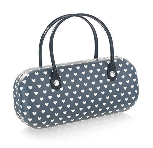 Brillenetui für Damen – Hochwertiges Etui in Handtaschen-Optik – Etui inkl. Mikrofasertuch...