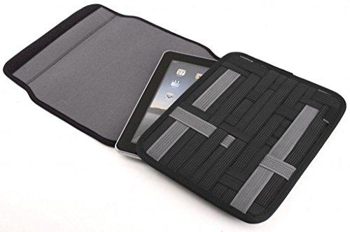 [Bamboo] Organization System Accessori borse da viaggio valigie organizzatore organizzatore 31 x 21 x 0.5cm Per iPhone, iPod, fotocamere digitali, hard disk, cuffie, batterie, Gadget Elettronici ,Nero Nero