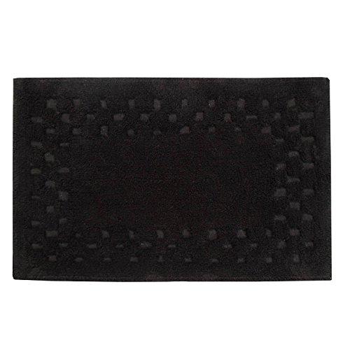 homescapes-check-border-bathmat-rug-black-soft-100-cotton-1200-gsm-washable-at-home-non-slip-spray-b