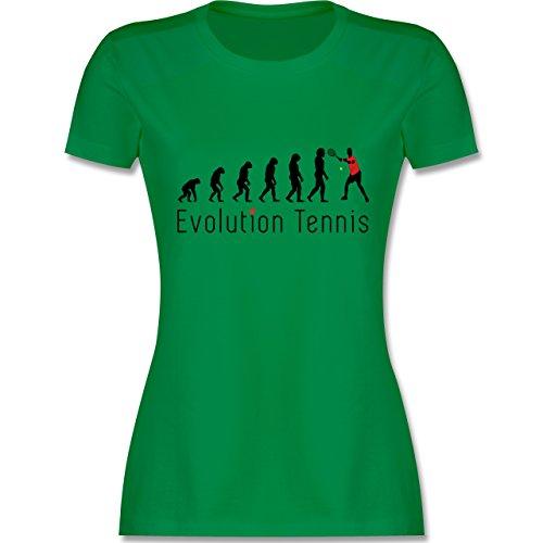 Evolution - Tennis Evolution - tailliertes Premium T-Shirt mit Rundhalsausschnitt für Damen Grün