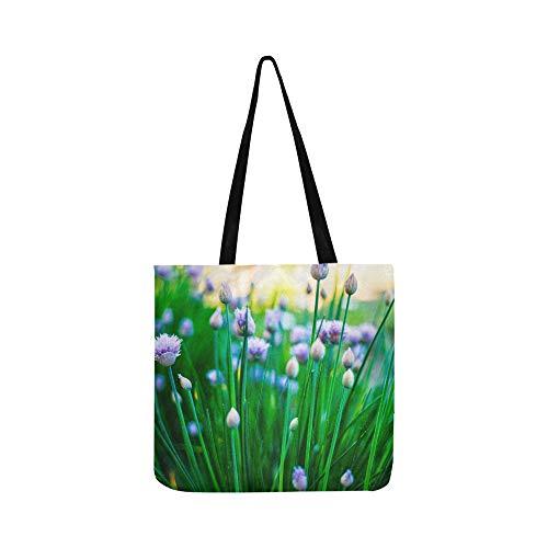 e blühende Leinwand Tote Handtasche Schultertasche Crossbody Taschen Geldbörsen für Männer und Frauen Einkaufstasche ()