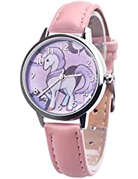 Unicornio Relojes Niños Reloj Chica Reloj Niños Pulsera Reloj Horse Pony Animal Alloy Pulsera Chica Reloj