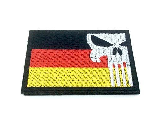 Deutschland Deutsch Punisher Gestickte Airsoft Klettverschluss-Flecken
