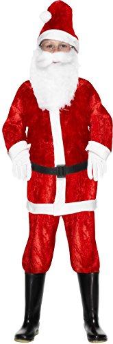 Smiffys, Kinder Jungen Mini Weihnachtsmann Kostüm, Anzug und Mütze, Größe: S, 29183