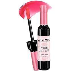 Babysbreath Forma de botella de vino Brillo labial Maquillaje de larga duración Maquillaje para labios con labial líquido NO.3