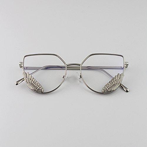 LXKMTYJ Stilvolle von Herrn Ngan Artefakt Brille Rahmen rundes Gesicht Polygon männlichen Hiramitsu dekoriert Gläser Silber Box Hiramitsu
