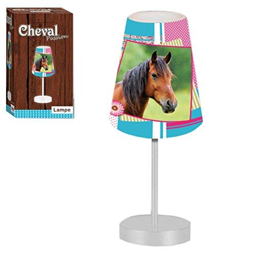 Lampe mit Pferdebildaufdruck, 2Bilder