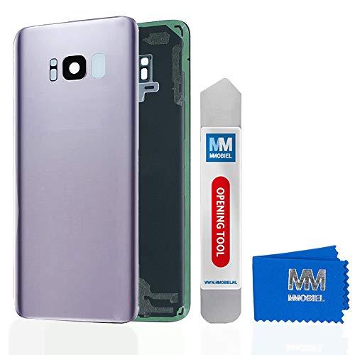 MMOBIEL Backcover Akkudeckel Rück Klappe mit Linse kompatibel mit Samsung Galaxy S8 G950 5.8 Inch (Orchid Gray) - Att Handys Unlocked