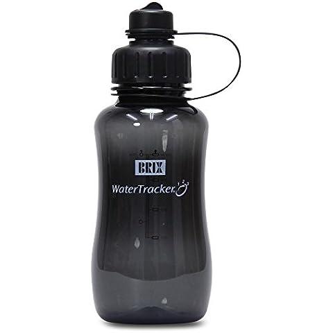 Brix Botella Water Tracker, 0,75l,–Black/Negro–Sin BPA
