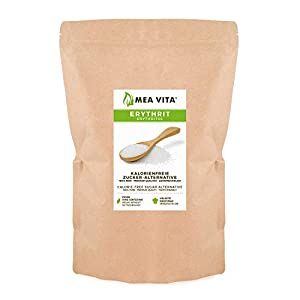 MeaVita Erythrit kalorienfreie Zucker-Alternative, 1er Pack (1x 1000g) im Beutel