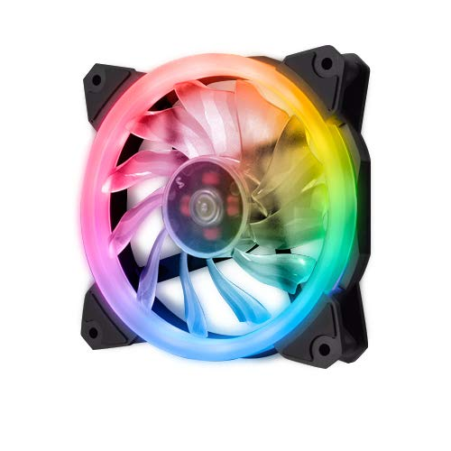 EZDIY-FAB Ventola LED RGB PWM da 120mm 1 Pack