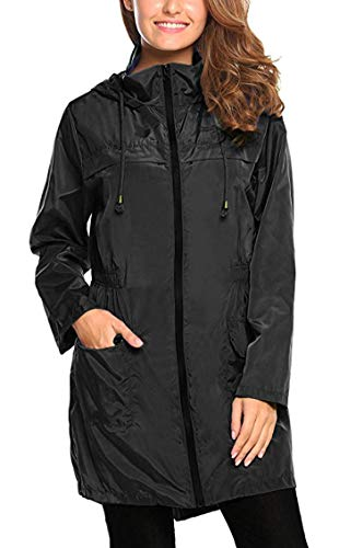 Litthing Chubasquero Impermeable Mujer Capucha Impermeable