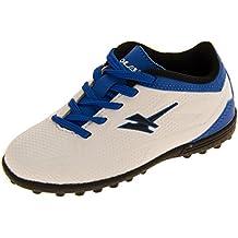 d42c19af402e6 Amazon.es  botas futbol multitacos niño - Blanco