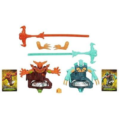 Beyblade Beywarriors Duel Fire vs Water Element Shogun Steel DUO PACK ! Feu contre Eau