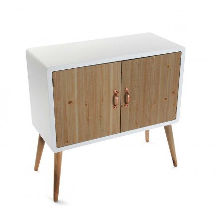 VERSA - meuble buffet scandinave bois naturel et bois blanc versa treveris