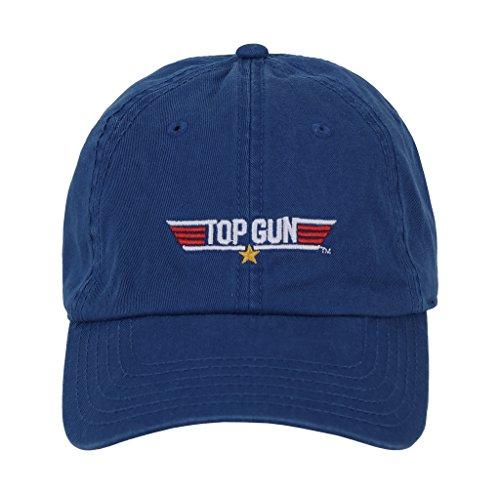 Top Gun Logo Navy Blue Adjustable Baseball Cap