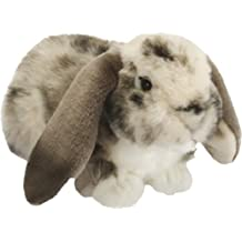 Living Nature British Wildlife Dutch Lop Ear Rabbit Soft Toy - Grey by Living Nature
