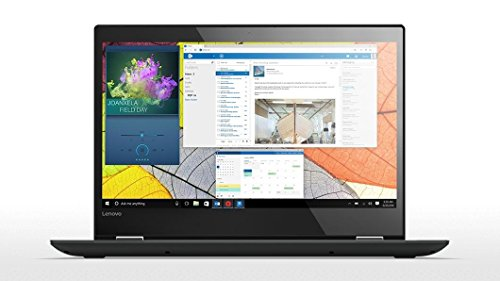 "Lenovo Yoga 520 2.40GHz i3-7100U 4GB RAM 256GB SSD 14"" 1920 x 1080Pixel Touch screen Nero Ibrido (2 in 1) Windows 10 Home"