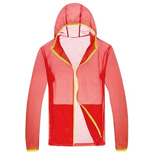 Auiyut Herren Sonnenschutz Jacke Angelanzug Atmungsaktiv Sweatshirts Kapuzenoberteil Lange Ärmel mit Reißverschluss Klimaanlage Kleidung für Sport Laufen Fitness Angel