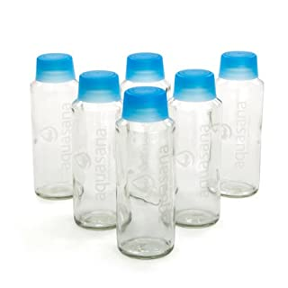 Aquasana AQ-6005 18-Ounce Glass Water Bottles, (12-bottles)